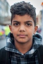 Rafaat Al-Hasnawi, 9, (the youngest son of Shayna Al-Hasnawi) from Baghdad arrives in Germany with his mother and two brothers. His father still remains in Iraq until he can save enough money to make the trip himself. Rafaat's father's prioritiy was to send his wife and kids to safety first.