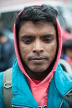 Arjumia Chamlu from Habiganj, Bangladesh arrives in uncertainty at Munich Central Station in Germany. He seeks to start a new life in Germany, but worries about his ability to attain asylum after hearing that priority will be given to Syrian and Iraqi migrants.